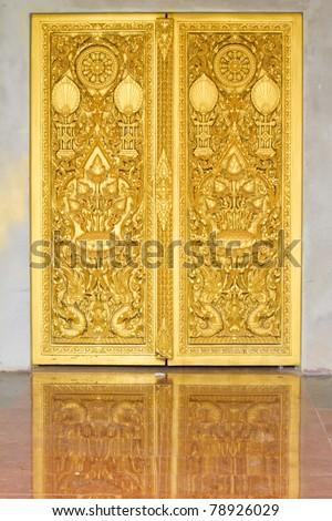 Design beautiful Thai temple gate - stock photo