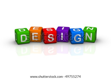 design (buzzword colorful cubes series)