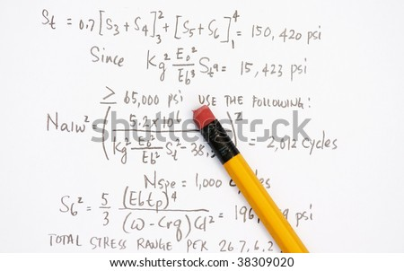 Design Calculation of asme pressure vessel - manu uses for the oil and gas industry. - stock photo