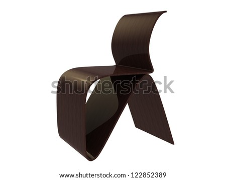 Design Chair isolated on a white background - stock photo