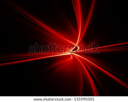 Design composed of motion trails in perspective as a metaphor on the subject of science and technology - stock photo