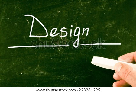 design content - stock photo