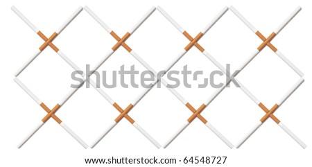Design cube of cigarette - stock photo