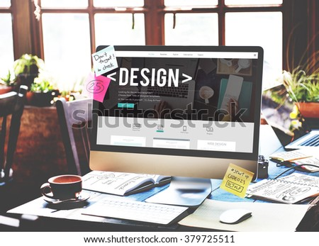 Design Drawing Outline Planning Purpose Creative Concept - stock photo
