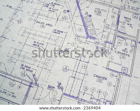 Design Drawings for Architecture - stock photo