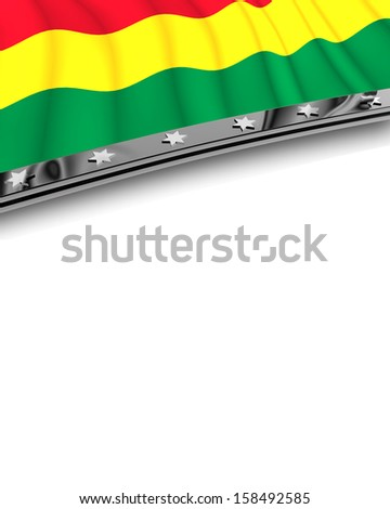 Design Element Flag of Bolivia - stock photo