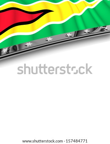 Design Element Flag of Guyana - stock photo