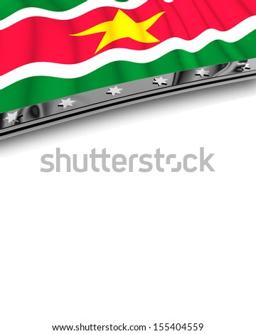 Design Element Flag of Suriname - stock photo