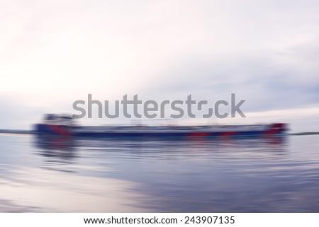 design element. hi-res  image. blured ship - stock photo