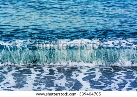 design element. ocean waves background - stock photo