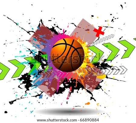 design elements basketball. Raster version