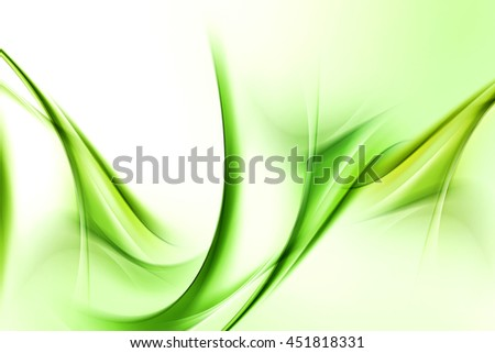 Design elements for card, website, wallpaper, presentation. Green modern bright waves art. Blurred pattern effect background. Abstract creative graphic template. Decorative business style.
