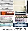 Design elements set, film borders. - stock photo