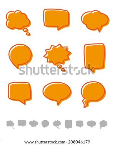 Design elements - Speech bubbles - stock photo