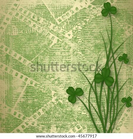 Design for St. Patrick's Day. Flower ornament. - stock photo