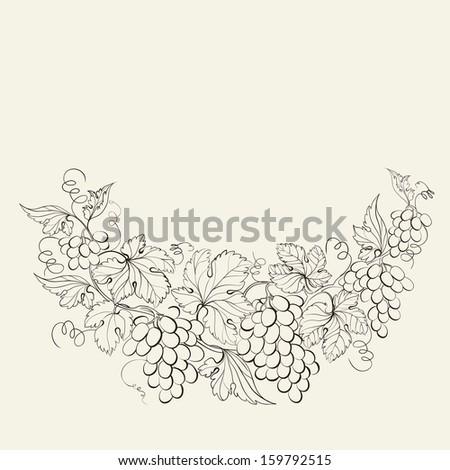 Design for wine list.  illustration. - stock photo