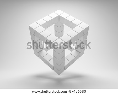 Design geometric shapes of the cubes - stock photo
