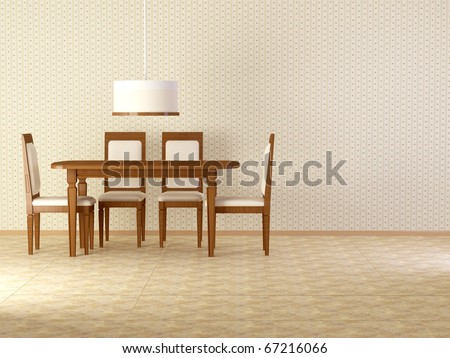 Design interior of elegance vintage dining room, similar compositions available in my portfolio - stock photo