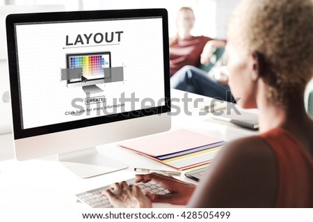 Design Layout Computer Software Interface Concept - stock photo