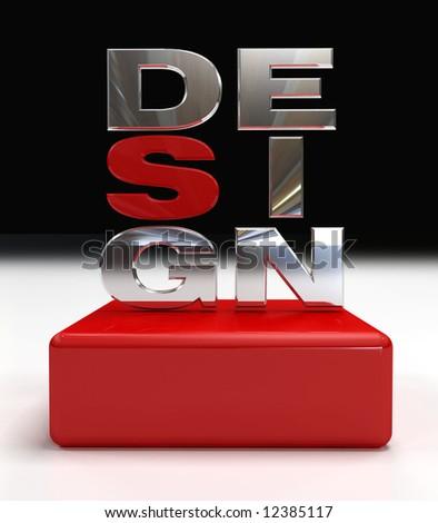 design logo - stock photo