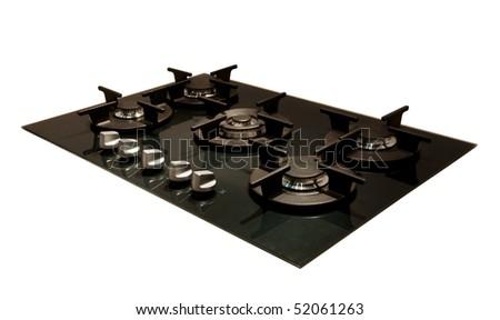 Design: modern gas hob - stock photo