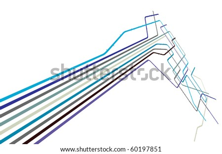 Design of a generic subway system with copy space - stock photo