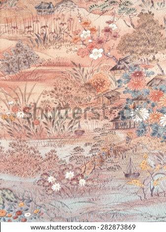 Design of a kimono - stock photo