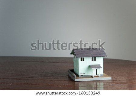 Design of a small house - stock photo