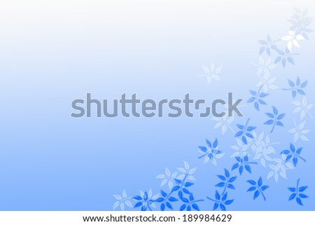 design of abstract blue background with leaves