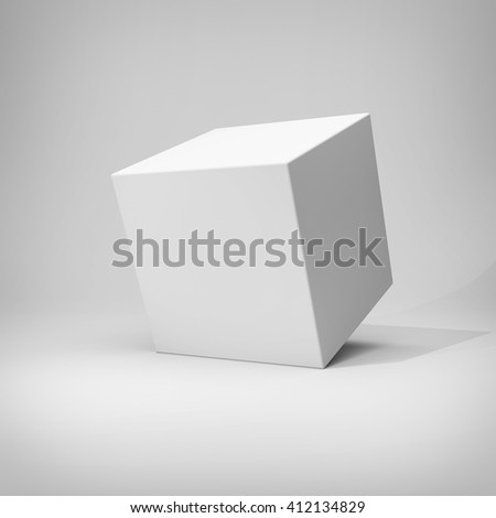 Design of abstract cube. 3D illustration. - stock photo