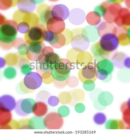 design of abstract  many color round bokeh on white  background
