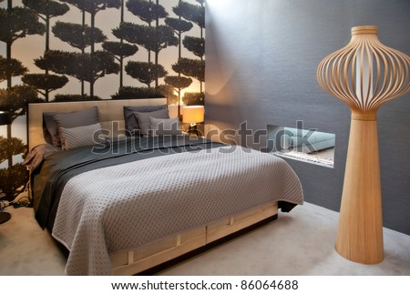 design of bed room in monochrome gamma