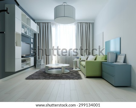 Furniture Design Living Room 3d 3d rendering modern living room interior stock photo 130649240