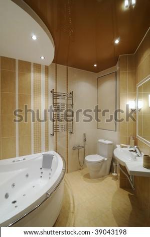 Design of interior. Bathroom. - stock photo