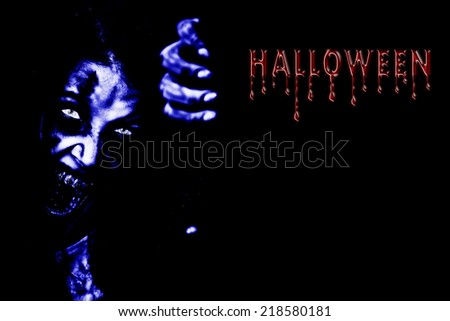 Design of invitation card. Welcome to the Halloween. - stock photo