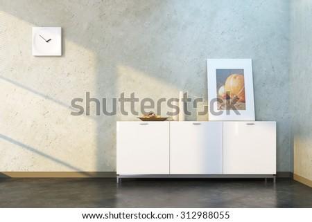 design of lounge room, 3d rendering - stock photo