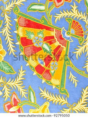Design of Malaysian batik in traditional concept. - stock photo