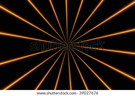 Design of orange and brown lines on black background - stock photo