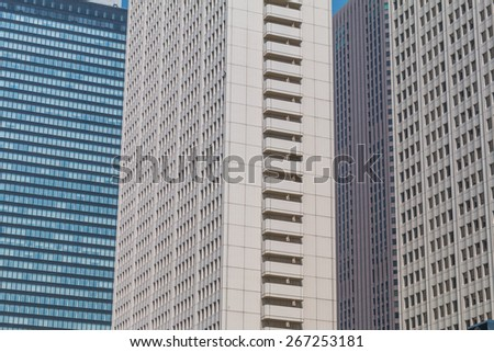 Design of the Japanese high-rise building - stock photo