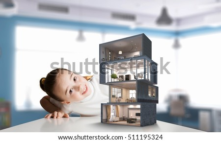 Design Your Dream House Mixed Media Stock Photo 511195324
