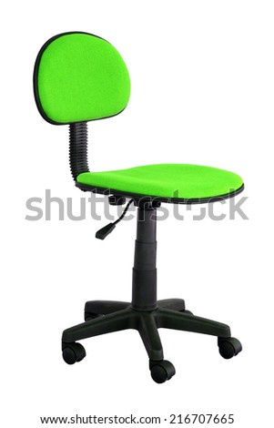 Green Desk Chairs green office chair stock photos, royalty-free images & vectors