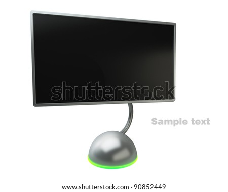 Design Screen on white background High resolution. 3D image