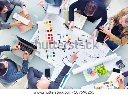 Design Team Planning for a New Project - stock photo