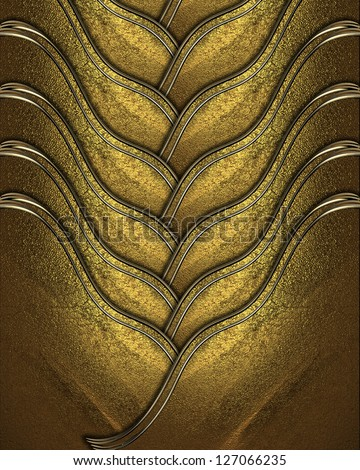 Design template - Gold braided texture with golden edges - stock photo