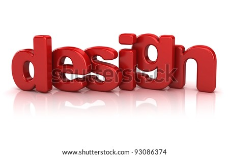 design text 3d isolated over white background - stock photo