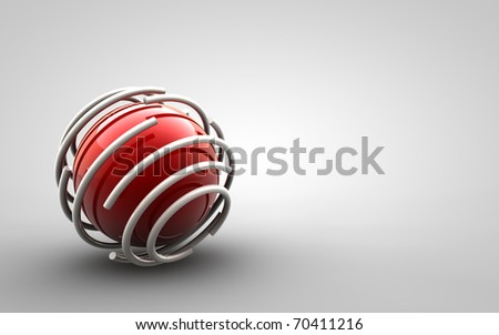 Design - trapped red ball - stock photo