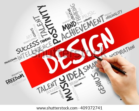 Design word cloud, business concept - stock photo