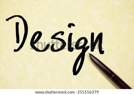 design word write on paper  - stock photo