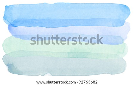 Designed abstract watercolor background. - stock photo