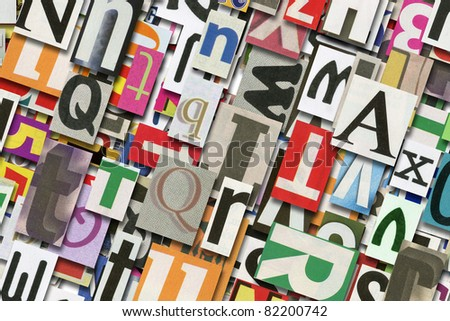 Designed background. Digital collage made of newspaper clippings. - stock photo